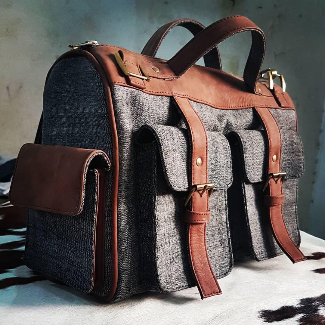 d6e4e65b72830 Marco - A Custom Made Casual Denim Messenger Bag for Men