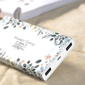Hoco 13000 mAh Power Bank – Floral Edition